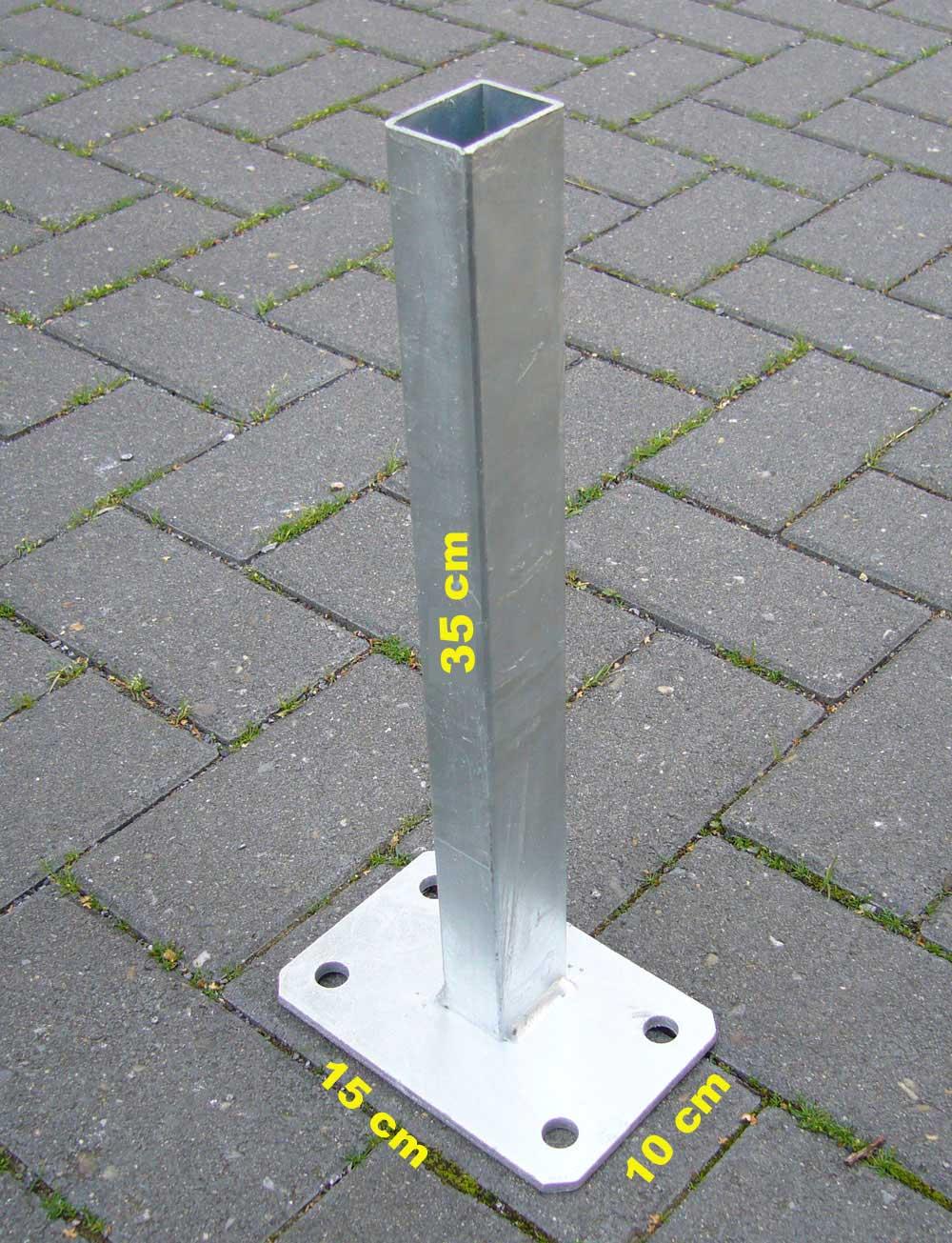 Fussplatte Fur Zaunpfosten 60 X 40 Mm Feuerverzinkt Gartenzaun