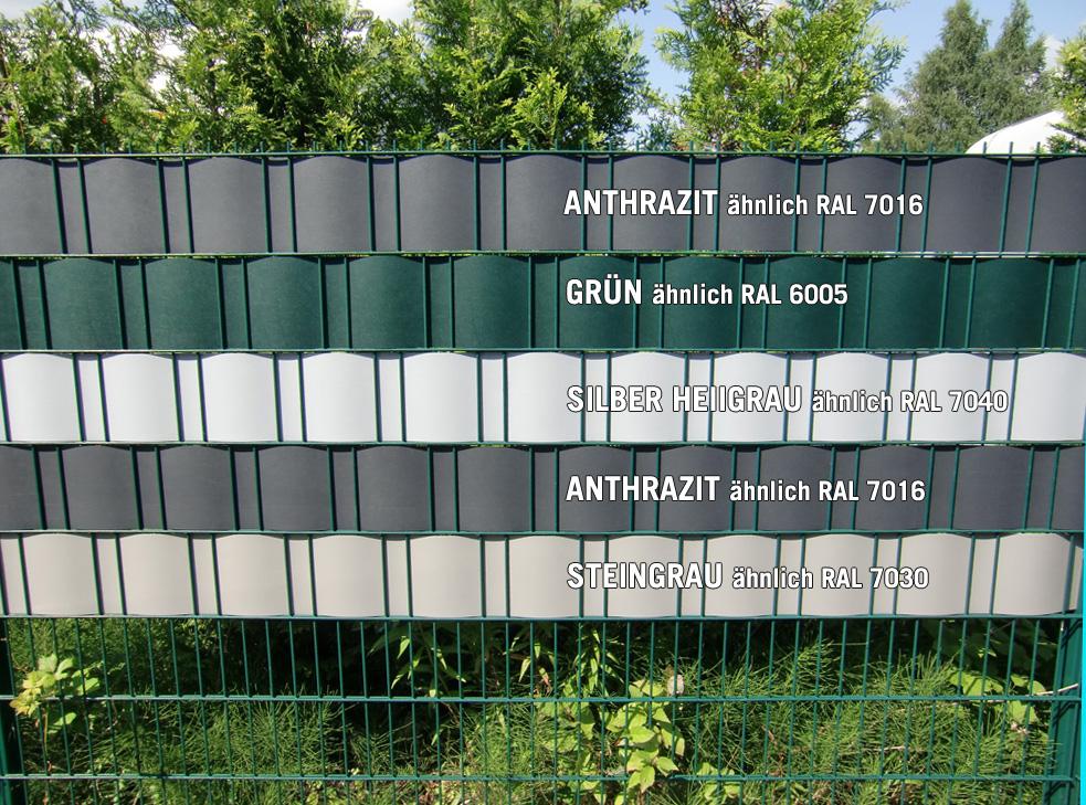 Wundervoll Feste Kunststoff-Sichtschutz-Streifen Anthrazit für  XC04