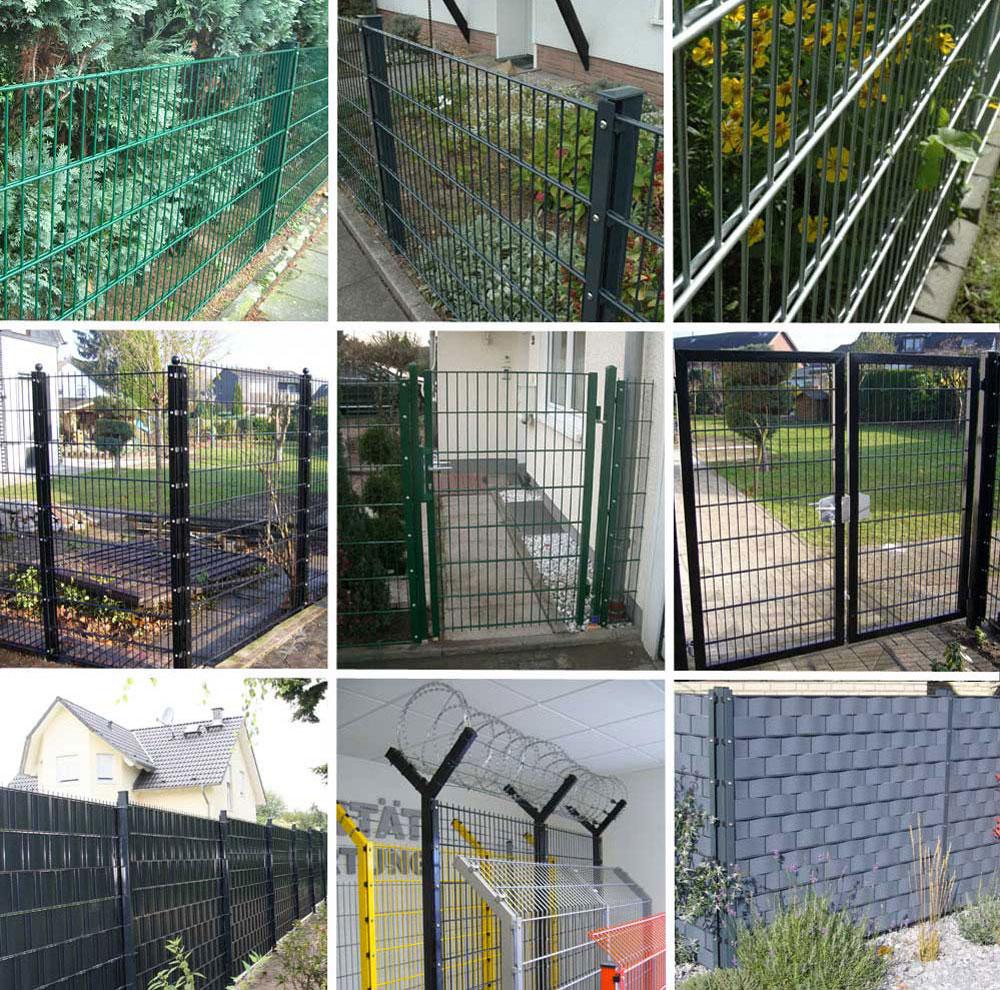 Doppelstabzaun 25 Meter Gartenzaun Komplett 63 Cm Hoch Verzinkt Zaun