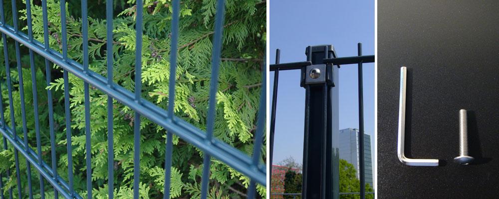 Doppelstab Gartenzaun 15 Meter Komplett Höhe 1,03M Farbe Anthrazit