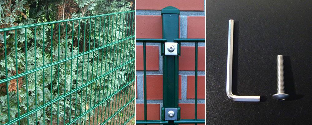 Metall Zaun 15 Meter komplett Höhe 103cm Gartenzaun, grün ...
