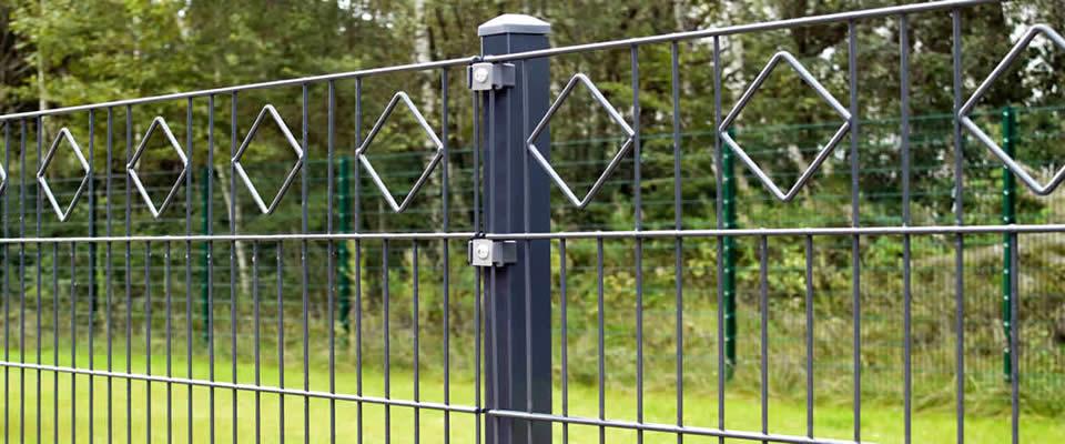 gartenzaun metall doppelstabmatten: zaun set zaunfelder metall, Garten und Bauen