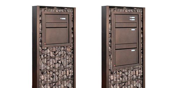 Durchwurfbriefkasten für Gabionenstele