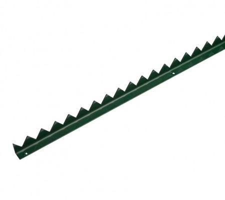 Zackenleiste für Gartentore - grün RAL 6005