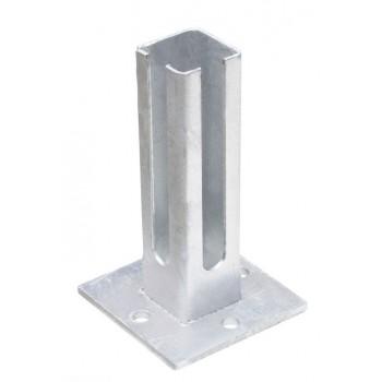 Fussplatte für Eckpfosten 60/60 mm