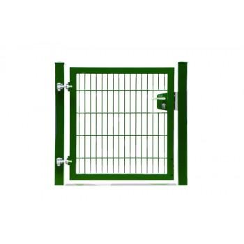 Rohrrahmentor 1 flg. Lichte Weite: 100 cm - Grün RAL 6005
