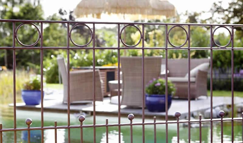Schmuckzaun für Garten mit Design