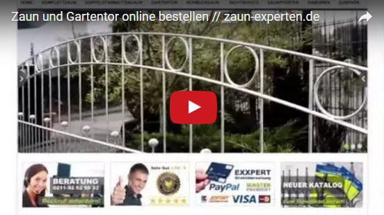 Zäune und Tore online günstig kaufen - zaun-experten.de